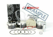 Wiseco Forged Pistons Cr 8.5 / 9.0 For Mitsubishi Evo 4-9 2.0 16v 4g63