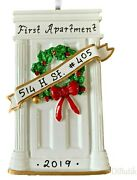 Name Personalized Christmas Ornament 2020 New Home House Apartment White Door