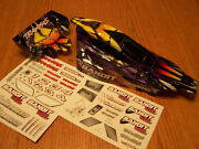 Traxxas Vxl Bandit Body W/ Wing Wire Mount And Decals Purple Black Yellow Xl5 Xl-5