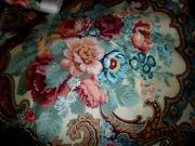 Kenmill Shabby Cottage Chic Floral Polished Cotton Over 4 Yds. Fabric Roses