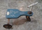 Vintage Antique Childs Toy Push Scooter Trike Tricycle Bunny Rabbit The Original