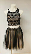 My Michelle Two-piece Prom Dress Size 5jc Penney Blackgrey Prom Homecoming Dress