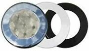 Boater Sports 51654 Interior Light 3 Round Led Recessed Mount 3bezel Boat Rv Md