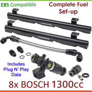 8x Bosch 1300cc E85 Injectors And Fuelrail Setup For Holden Hsv Ls Gts Vr Vs Vt Vg