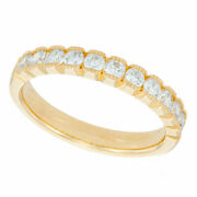 1/2 Carat Natural Diamond Vintage Style Anniversary Band In 14k Yellow Gold