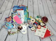 Large Lot Of Assorted Gift Bags Ribbon. And Wrapping Paper New