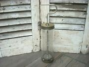 1940s Glass Butter Churn Beater Troco Nut Margarine Mixer Patand039d -rare-