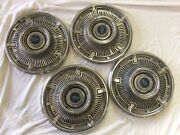 1964 Chevy Two Ii Nova Rally Sport Racing Hubcaps New Old Stock Chevrolet Crome