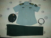 Obsolete 07and039s China Pla 2nd Artillery Woman Officer Short-sleeved Uniformsetb
