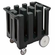 Cambro Dc700110 Black Poker Chip Style Dish Caddy With 6 Columns