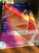 Signed Collectable A Fantastic Woman Original 27 X 40 Theatrical Movie Poster
