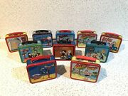 Collectible Mini Lunch Box Metal Set Of 10