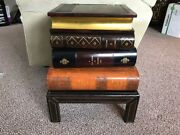 Maitland Smith Stacked Book Form Table Mint