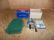 Shakespeare Service 1944 Reel Model Ff Level Wind W/box, Bag And Instr 6/21