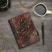 Vintage Classic Leather Book Notebook Sketchbook Diary Travel Journal Note Gift