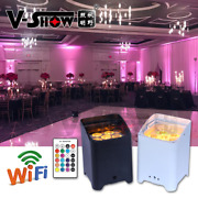 V-show 10pcs+case 618w 6in1 Wireless Battery Remote Control Dmx Led Uplights