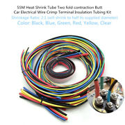 55m 6color Heat Shrink Butt Car Electrical Wire Crimp Terminal Insulation Tubing