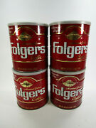Lot Of 4 Vintage Empty Large Folgers Coffee Cans Big Lebowski