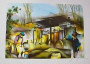 Raymond Poulet The Glass Blower Hand Signed Limited Edition Lithograph Art