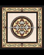 Marble Dining Side Top Center Table Inlay Stunning Design Occasional Decor H5356