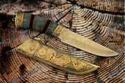 Gift Knife. Tigris. Elk. A Luxurious Gift For Christmas. Luxury Collectible Gift