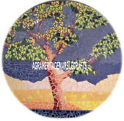 Marble Dining Side Table Top Mosaic Tree Inlay Art Outdoor Patio Decor H3824