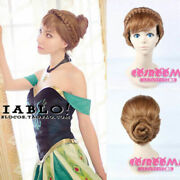 Disney Frozen Anna Styled Coronation Cosplay Wig Hand Made Full Hair Cos Wig