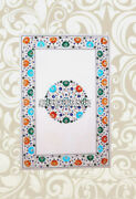 Modern Marble Dining Top Table Marquetry Turquoise Inlay Restaurant Decor H3831