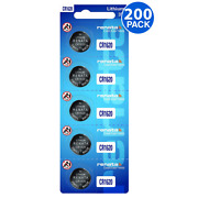 Renata Cr1620 3v Lithium Coin Cell 200 Batteries - Tracking Included