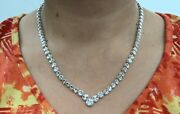 14k Pure White Gold Graduated Disk Necklace 14g