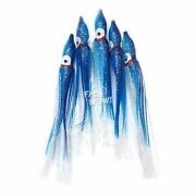 Fish Wow 4.75 Fishing Squid Skirts Octopus Trolling Hoochie Lure Blueclear Lot