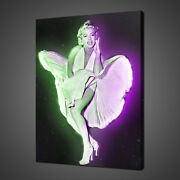 Marilyn Monroe White Dress Canvas Print Picture Wall Art Free Uk Delivery