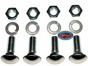 Ford 7/16-14x1-1/4 Stainless Capped Round Head Front Rear Bumper Bolts 4pcs A