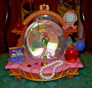 Disney Tinkerbell You Can Fly Musical Snow Globe Jewelry Chest Vanity Pearls