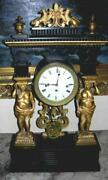 Ca 1830 Viennese Ebonized And Gilt Architectural Mantle Clock