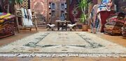 Beautiful Vintage 1980's Muted Natural Dye,6'5'x9'7 Wool Pile Decorative Rug