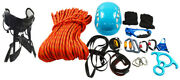 Full Set Outdoor Rock-climbing Downhill Body Safety Harness Equipment Rescue Kit