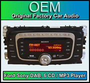 Ford Galaxy Dab Radio With 6 Disc Cd Mp3 Player Ford Sony Car Stereo + Code