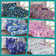1 Set Comforter Many Designs Boys And Girls / Teens Sheet Pillow Cases And Furry Toy