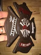 Fireman Plaque Sign Vintage Style Solid Metal Cast Iron Plaque Firefighter Vg
