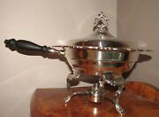 Oneida Silver Sea Crest Chafing Dish W/lid, 2 Liners, Stand And Burner-euc