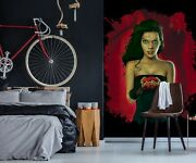 3d Blood Roses Woman G315 Wallpaper Mural Self-adhesive Removable Vincent Amy