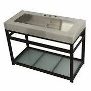 Kingston Brass Kvsp4922b5 Fauceture 49 Stainless Steel Sink With Iron Consol...