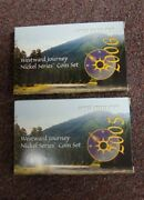 2005 / 2006 P D And S Westward Journey Nickel Series Coin Sets Box And Coa