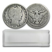 90 Silver Barber Quarters 40-coin Roll Almost Good - Sku 13642