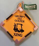Midwest Of Cannon Falls Grumpy Old Golfer Xing Christmas Ornament 4andrdquo X 4andrdquo