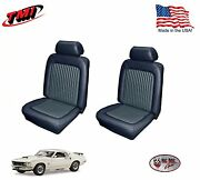 Dark Blue Front And Rear Seat Upholstery For 1969 Mustang, Made In The Usa, Tmi