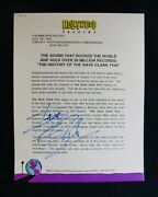 The Dave Clark Fiveautographed Hollywood Records Press Release By Dave Clark
