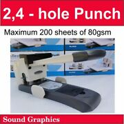 Effortless Heavy Duty 2 Hole Punch Capacity 200 Sheets Of 80gsm Paper