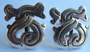 Taxco Mexico Sterling Silver Earrings Interesting Old Marks Screw Backs